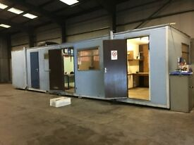 portacabin with 3 partitioned office space