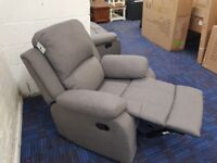 NEW Harveys Grey Fabric Recliner Chair RRP £499