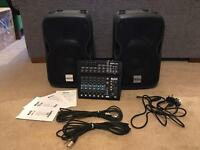 Alto ZMX122FX 8 Channel Mixer with effects + Two Alto TS110A Monitors