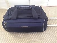 Handluggage, suitcase on wheels, blue