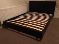 Faux leather double bed frame-£70 delivered