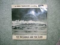 BRITANNIAS & THE CLANS a STEAM TRAIN -ARGO transacord vinyl EP-1968.