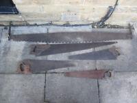 5 x Antique Saws