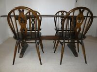 Gorgeous Ercol Old Colonial Refectory Table and Six Windsor Chairs