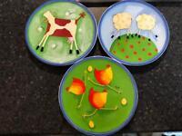 Kitchen plates.
