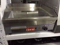 COMMERCIAL CROME TOP ELECTRIC FLAT GRIDDLE GRILL FOR CAFE KEBAB TAKEAWAY CANTEEN PUB HOTEL