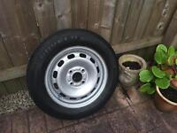 Ford Fiesta spare wheel and tyre