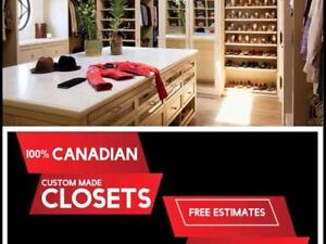 CUSTOM CLOSET ORGANIZERS STRAIGHT FROM THE MANUFACTURER IN VAUGHAN