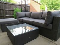 Brand new NEXT garden sofa, footstool and coffee table