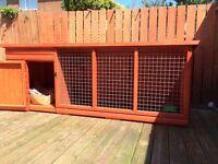 Handmade dog kennels with runs