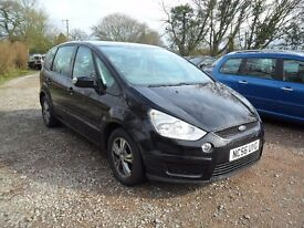 2007'56 FORD S-MAX 1.8 TDCi--7'SEATER-10 MONTHS MOT-125K LOTS RECEIPTS