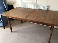 GPlan retro dining table and 6 chairs