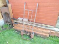 Lovely old iron sack barrow ideal for climbing plants etc