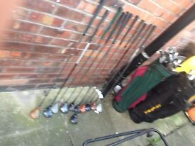 Golf clubs 51 in total mixed there are sets in them