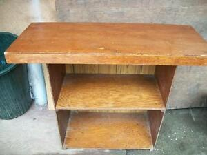 bookcase with table top