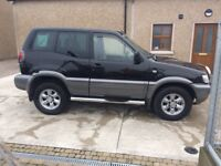 Nissan terrano has 6 months mot left 4 good tyres going well. In good conditions for its age 1250ono