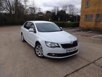 Skoda Superb S TDi Cr Dsg 5dr (white) 2014
