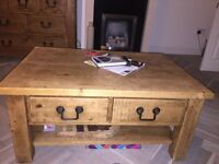 Amazing solid oak coffee table