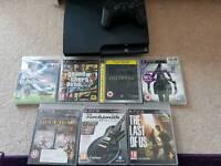 Ps3 160gb + 7 games including GTA5