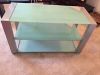 TV Cabinet/Stand - Entertainment Unit - Glass/Silver