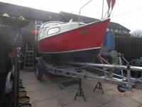 seasafe dandy 16ft boat with trailer ready to sail with extras REDUCED FOR QUICK SALE OFFERS WELCOME