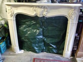 Stunning Extra Large Marble Effect Fire Surround.