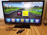"""LG 55LW650T 55"""" Full HD 1080p 3D Internet LED TV / Build in Freeview HD, Wi-Fi, Smart remote"""
