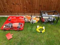 Hilti te1000 high drive. Stihl saw TS 410 110/240 generator. All in exelent condition.