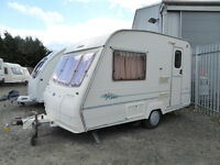 2 Berth Caravan Bailey Hunter Lite 350/2. Immaculate inside. Motor mover, winter cover