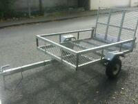 Apache 6x4 quad atv ride on lawnmower fully galvanised trailer