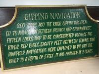 River Gipping Navigation sign reclaimed