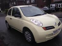 Nissan Micra S 2004 3 door hatchback in white/cream. Petrol