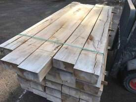 🌟 Brand New French Oak Timber Railway Sleepers