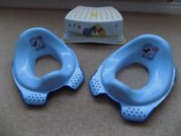 2 x Mickey Mouse Toilet Training Seats and Winnie the Pooh Stool