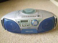 Sanyo 'Boombox' type portable radio/CD & cassette player