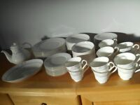 Royal Doulton Dinnerware- Allegro pattern. Table setting for 12 (74 pieces). In very good condition.