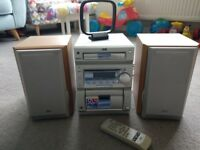 Stereo system JVC UX-P55 60Wx2 in immaculate condition.