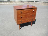 Nice Quality Retro Teak 70's Chest Of 3 Drawers