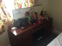 Good quality dressing table with 6 drawers and mirror