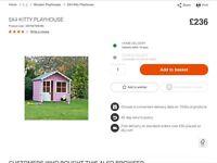Ex display kids playhouse
