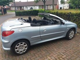 PEUGEOT 206CC CONVERTIBLE 1.6 10 MONTHS MOT ELECTRIC ROOF