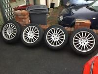 Mercedes alloy wheels 5x112pcd 205/55/17 continental tyres