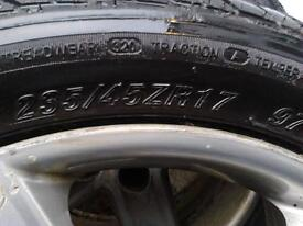 Audi A 6 wheel and tyres (pair) R17 235 / 45