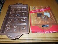 1of a kind~~12 Days Of Christmas Mould (non stick) Brand New)