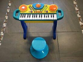 Children's Toy Keyboard & Stool