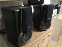 technics 3 way speakers with built in woofers