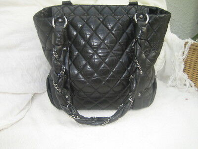 04fe2d6092f3 CHANEL BLACK QUILTED DISTRESSED LEATHER LADY BRAID TOTE BAG for sale Marlow