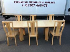 Skovby extending dining table & 6 chairs * free furniture delivery *