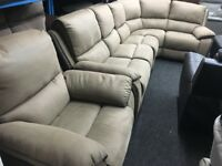 New/Ex Display LazyBoy Corner Sofa + 1 Seater Recliner Sofa Chair