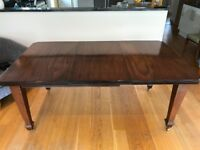 Victorian Extending Dining Room Table with Six Chairs
